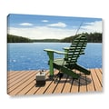 ArtWall in.Fishing Chairin. Wrapped Canvas Arts By Ken Kirsch