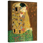"ArtWall ""The Kiss"" Gallery Wrapped Canvas Art By Gustav Klimt, 26"" x 40"""