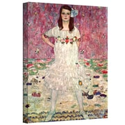"ArtWall ""Anticipation"" Gallery Wrapped Canvas Art By Gustav Klimt, 10"" x 18"""
