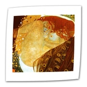 "ArtWall ""Fish Blood"" Flat/Rolled Canvas Art By Gustav Klimt, 24"" x 24"""