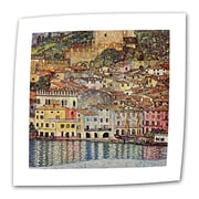 "ArtWall ""Malcesina at Gardasee"" Flat/Rolled Canvas Art By Gustav Klimt, 36"" x 36"""