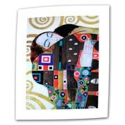 "ArtWall ""Malcesina at Gardasee"" Flat/Rolled Canvas Arts By Gustav Klimt"