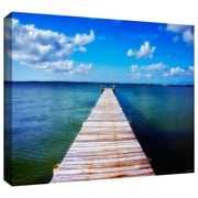 "ArtWall ""Empty Pier"" Gallery Wrapped Canvas Art By David Liam Kyle, 12"" x 18"""