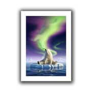 "ArtWall ""Artic Kiss"" Flat Unwrapped Canvas Arts By Jerry Lofaro"
