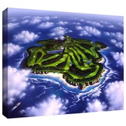 "ArtWall ""Paradise Island"" Gallery Wrapped Canvas Artork by Jerry Lofaro, 36"" x 48"""