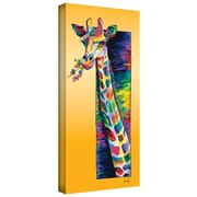 "ArtWall ""Giraffe Eating"" Gallery Wrapped Canvas Arts By Linzi Lynn"