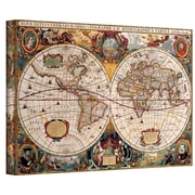 """ArtWall """"Hydrographica Antique Map"""" Gallery Wrapped Canvas Arts"""