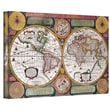 ArtWall in.De La Terrein. Antique Map Gallery Wrapped Canvas Art By Samuel Dunn, 14in. x 18in.