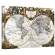 ArtWall in.Antique World Map Circa 1499in. Gallery Wrapped Canvas Art, 24in. x 36in.