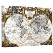 "ArtWall ""Antique World Map Circa 1499"" Gallery Wrapped Canvas Art, 32"" x 48"""