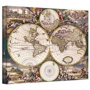 "ArtWall ""Terrarum Orbis Antique Map"" Gallery Wrapped Canvas Art, 14"" x 18"""