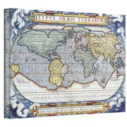 "ArtWall ""Typvs Orbis Terrarvm Antique Map"" Gallery Wrapped Canvas Art, 12"" x 18"""