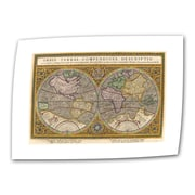 "ArtWall ""Orbis Terrae Compendiosa..."" Unwrapped Canvas Art By Rumold Mercator, 12"" x 18"""