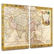 ArtWall in.Map of Asiain. 2 Piece Gallery Wrapped Canvas Art By Guillaume Danet, 24in. x 36in.