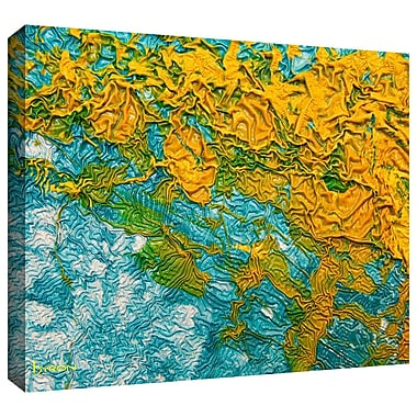 Antonio Raggio 'Waves' Unwrapped Canvas, 08'' x 24''