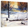 """ArtWall """"Winter Woods"""" Gallery Wrapped Canvas Arts By Dan McDonnell"""