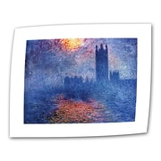 ArtWall Houses of Parliament Flat/Rolled Canvas Art By Claude Monet, 24 x 32