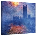ArtWall in.Houses of Parliamentin. Gallery Wrapped Canvas Arts By Claude Monet