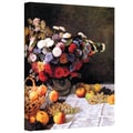 ArtWall in.Flowers and Fruitin. Gallery Wrapped Canvas Arts By Claude Monet