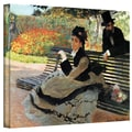 ArtWall in.Park Benchin. Gallery Wrapped Canvas Arts By Claude Monet