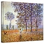 ArtWall Poplars Gallery Wrapped Canvas Art By Claude