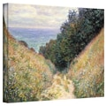 ArtWall in.Footpathin. Gallery Wrapped Canvas Arts By Claude Monet