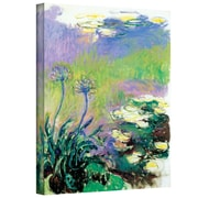 "ArtWall ""Agapanthus"" Gallery Wrapped Canvas Arts By Claude Monet"