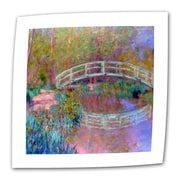 ArtWall Japanese Bridge Flat/Rolled Canvas Art By Claude Monet, 24 x 32
