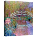 ArtWall in.Japanese Bridgein. Gallery Wrapped Canvas Arts By Claude Monet
