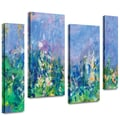 ArtWall in.Lavender Fieldsin. 4 Piece Gallery Wrapped Canvas Art By Claude Monet, 36in. x 48in.