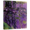 ArtWall in.Lavender Water Lilliesin. Gallery Wrapped Canvas Arts By Claude Monet