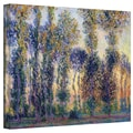 ArtWall in.Poplars At Giverny At Sunrisein. Gallery Wrapped Canvas Arts By Claude Monet