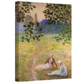 ArtWall in.Eve in the Meadow at Givernyin. Gallery Wrapped Canvas Arts By Claude Monet