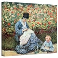 ArtWall in.Mother and Childin. Gallery Wrapped Canvas Arts By Claude Monet