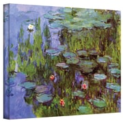 """ArtWall """"Sea Roses"""" Gallery Wrapped Canvas Art By Claude Monet, 36"""" x 48"""""""