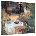 ArtWall in.Garden Picnicin. Gallery Wrapped Canvas Arts By Claude Monet