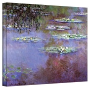 """ArtWall """"Sea Roses II"""" Gallery Wrapped Canvas Art By Claude Monet, 36"""" x 48"""""""