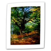 "ArtWall ""Bodmer Oak at Fountainbleau Forest"" Flat/Rolled Canvas Art By Claude Monet, 14"" x 18"""
