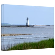 "ArtWall ""Tybee Island's Unofficial Lighthouse"" Gallery Wrapped Canvas Arts By Lora Mosier"