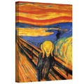ArtWall in.The Screamin. Gallery Wrapped Canvas Arts By Edvard Munch