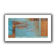 """ArtWall """"Blue Brown Collage"""" Flat Unwrapped Canvas Art By Cora Niele, 18"""" x 36"""""""