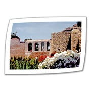 ArtWall Bells of Mission San Juan Capistrano Unwrapped Canvas Art By Linda Parker, 16 x 24