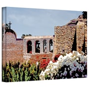 ArtWall Bells of Mission San Juan Capistrano Gallery Wrapped Canvas Art By Linda Parker, 32 x 48