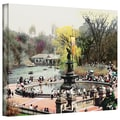 ArtWall in.Bethesda Fountainin. Gallery Wrapped Canvas Arts By Linda Parker
