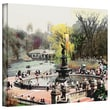 ArtWall in.Bethesda Fountainin. Gallery Wrapped Canvas Art By Linda Parker, 14in. x 18in.