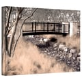 ArtWall in.Bridge Over Washin. Gallery Wrapped Canvas Arts By Linda Parker