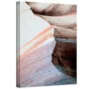 "ArtWall ""Desert Sands Mountain"" Gallery Wrapped Canvas Arts By Linda Parker"