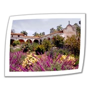 ArtWall Gardens of Mission San Juan... Unwrapped Canvas Art By Linda Parker, 14 x 18