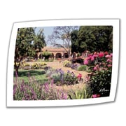 ArtWall Gardens of Mission San Juan..II Unwrapped Canvas Art By Linda Parker, 14 x 18