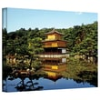 "ArtWall ""Kyoto's Golden Pavilion"" Gallery Wrapped Canvas Art By Linda Parker, 36"" x 48"""